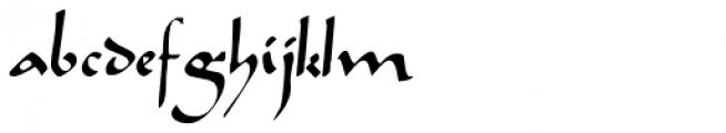 Caliph Font LOWERCASE