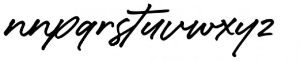 Caliway Alternate Font LOWERCASE