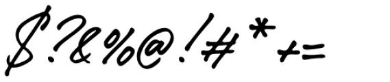 Caliway Regular Font OTHER CHARS