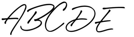 Caliway Regular Font UPPERCASE