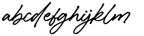 Caliway Regular Font LOWERCASE