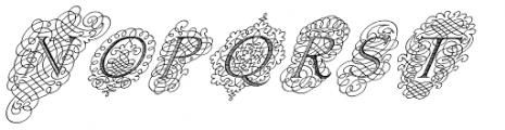 Calligraphia Latina Mixed Font UPPERCASE