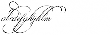Calligraphia Latina Mixed Font LOWERCASE