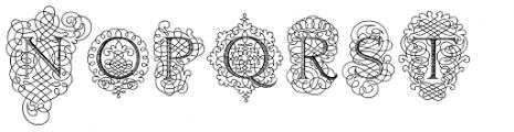 Calligraphia Latina Soft Font UPPERCASE