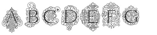 Calligraphia Latina Soft Font LOWERCASE