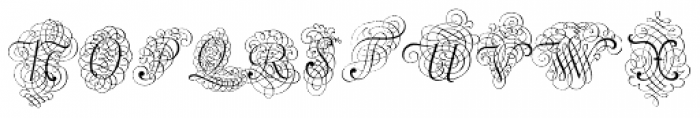 Calligraphia Latina Versals Two Font UPPERCASE
