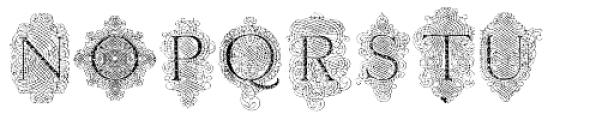 Calligraphia Latina Versals Font UPPERCASE