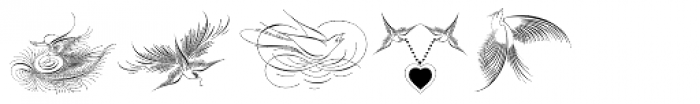 Calligraphic Birds Two Font LOWERCASE