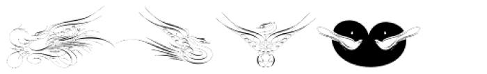 Calligraphic Birds Font UPPERCASE
