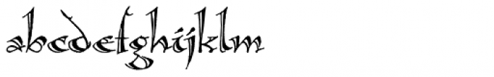 Calligraphica LX Font LOWERCASE
