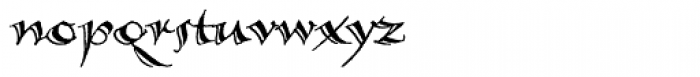 Calligraphica SX Font LOWERCASE