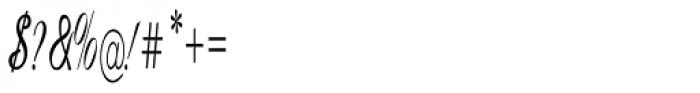 Calligri Extracondensed Regular Font OTHER CHARS