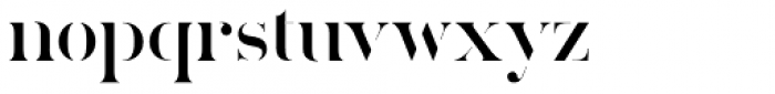 Callisto Half Font LOWERCASE