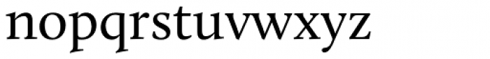 Calluna Regular Font LOWERCASE