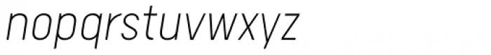 Calps Sans Extra Light Italic Font LOWERCASE