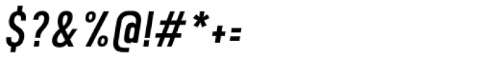 Calps Sans Slim Italic Font OTHER CHARS