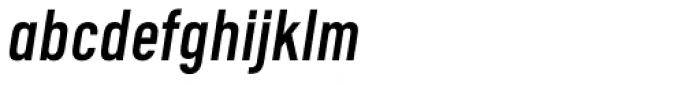 Calps Sans Slim Italic Font LOWERCASE