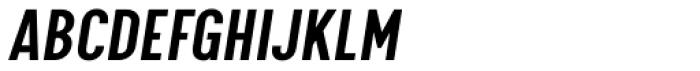 Calps Sans Slim Medium Italic Font UPPERCASE