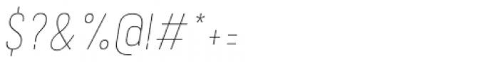 Calps Sans Slim Thin Italic Font OTHER CHARS