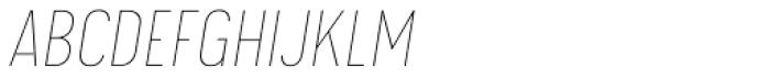 Calps Sans Slim Thin Italic Font UPPERCASE