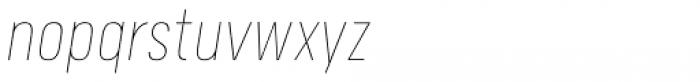 Calps Sans Slim Thin Italic Font LOWERCASE
