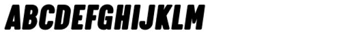 Calps Slim Extra Black Italic Font UPPERCASE