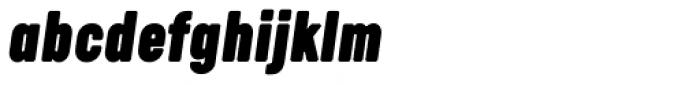 Calps Slim Extra Black Italic Font LOWERCASE