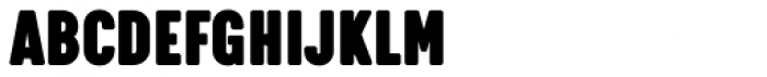 Calps Slim Extra Black Font UPPERCASE