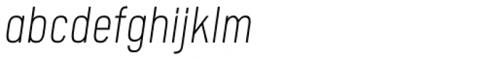 Calps Slim Extra Light Italic Font LOWERCASE