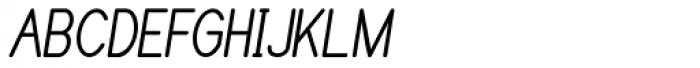 Caluminy Bold Compact Oblique Font UPPERCASE