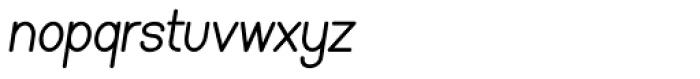 Caluminy Bold Compact Oblique Font LOWERCASE