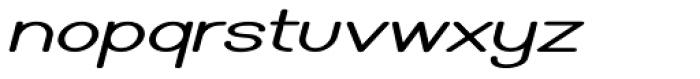 Caluminy Bold Expand Oblique Font LOWERCASE