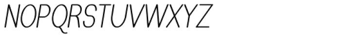 Caluminy Compact Oblique Font UPPERCASE