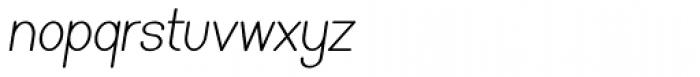 Caluminy Compact Oblique Font LOWERCASE