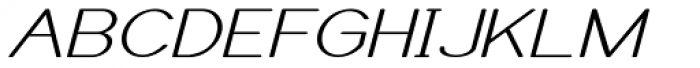 Caluminy Expand Oblique Font UPPERCASE