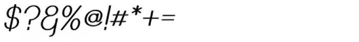 Caluminy Oblique Font OTHER CHARS