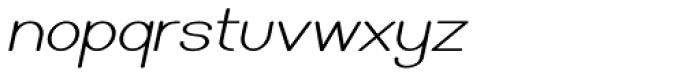 Caluminy Oblique Font LOWERCASE