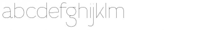 Calvin Hairline Font LOWERCASE
