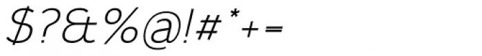 Calvin Light Italic Font OTHER CHARS