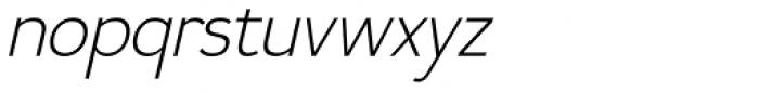 Calvin Light Italic Font LOWERCASE