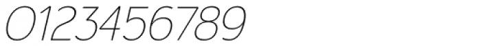Calvin Ultralight Italic Font OTHER CHARS