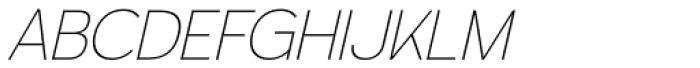 Calvin Ultralight Italic Font UPPERCASE