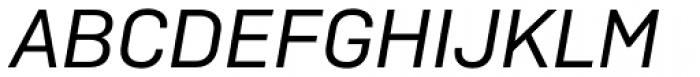Camber Regular Italic Font UPPERCASE