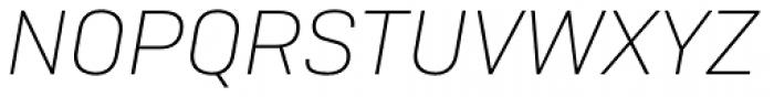 Camber Ultra Light Italic Font UPPERCASE