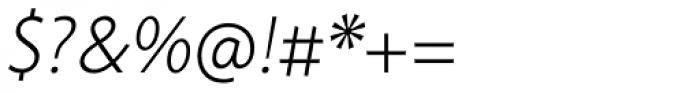 Cambridge Light Italic Font OTHER CHARS