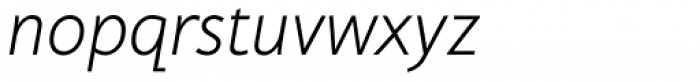 Cambridge Light Italic Font LOWERCASE