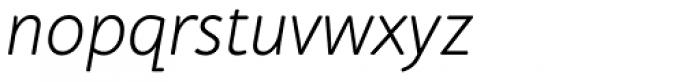 Cambridge Round Light Italic Font LOWERCASE