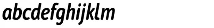 Cambridge Round SemiBold Cond Italic Font LOWERCASE