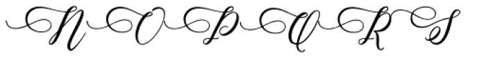 Camelia Script Regular Font UPPERCASE