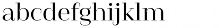 Camila Medium Font LOWERCASE
